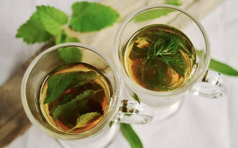Chamomile tea in cups