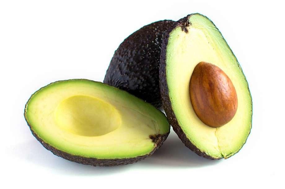 avocado in half