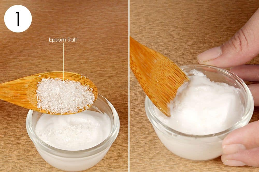 how to make epsom salt paste