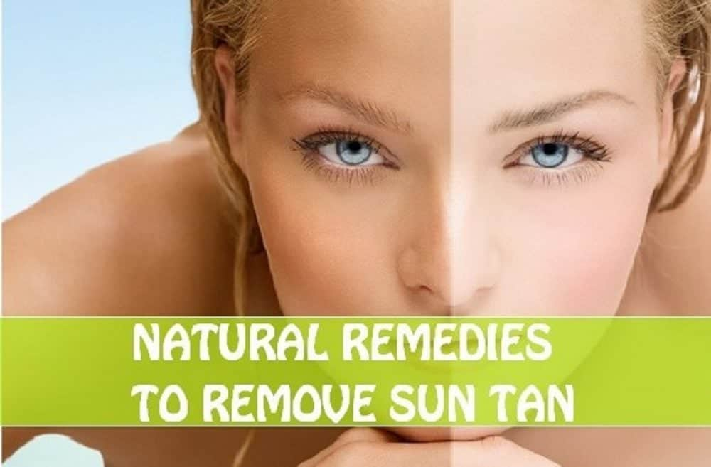 natural remedies to remove sun tan before and after