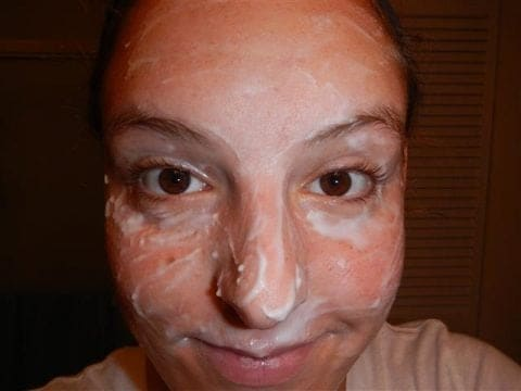 face with paste