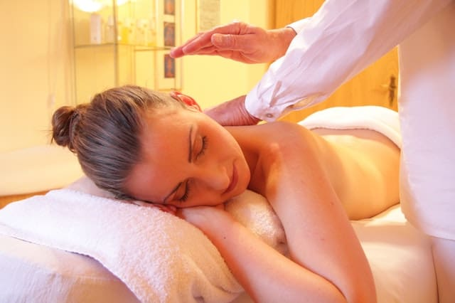 Woman having a spa session