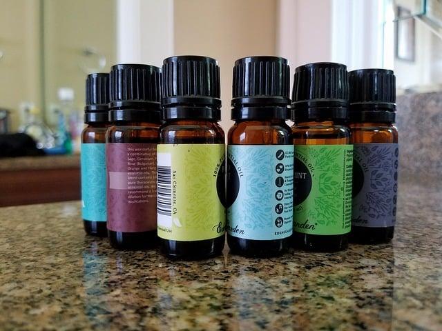 6 bottles of essential oil