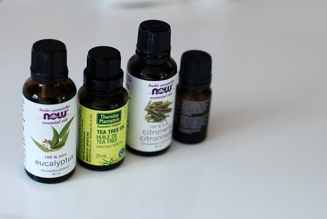 4 bottles of essential oils