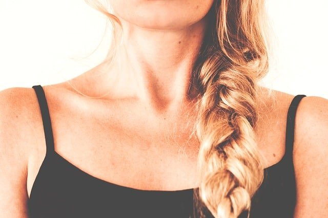 Lady with a braid in her hair