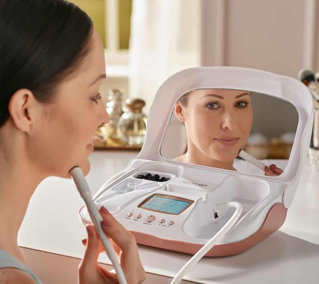 Woman Using Microderm Trophy Skin