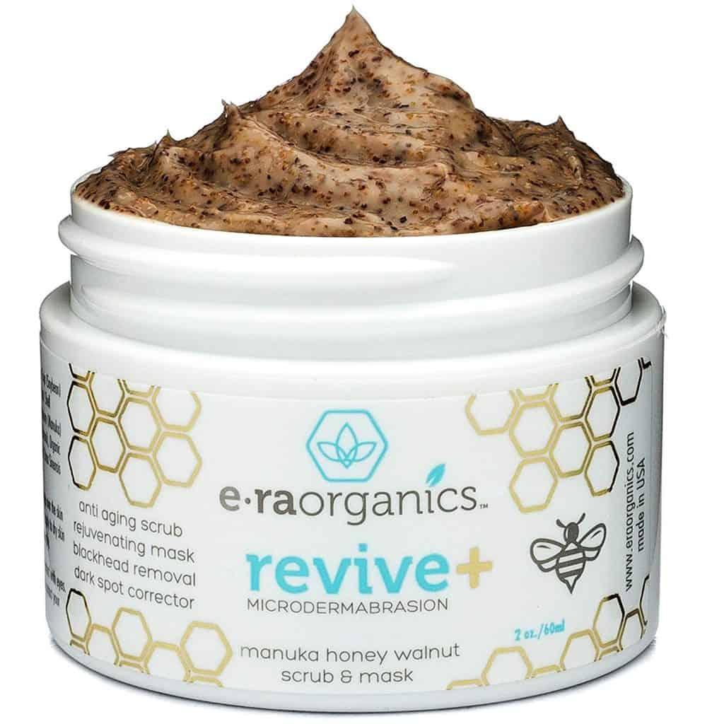 Era Organics' Revive Microdermabrasion Manuka Honey, Walnut Scrub & Mask Opened Lid