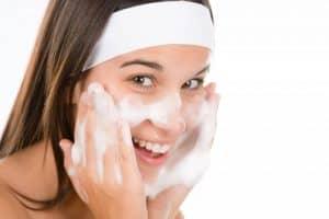Lady Washing Face