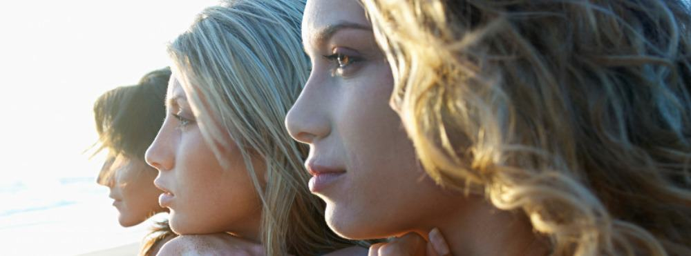 3 ladies looking afar