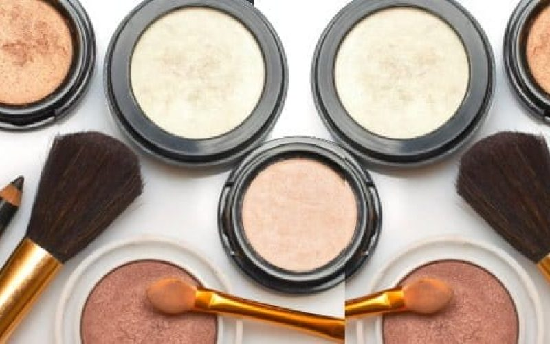 make up products laid on the table