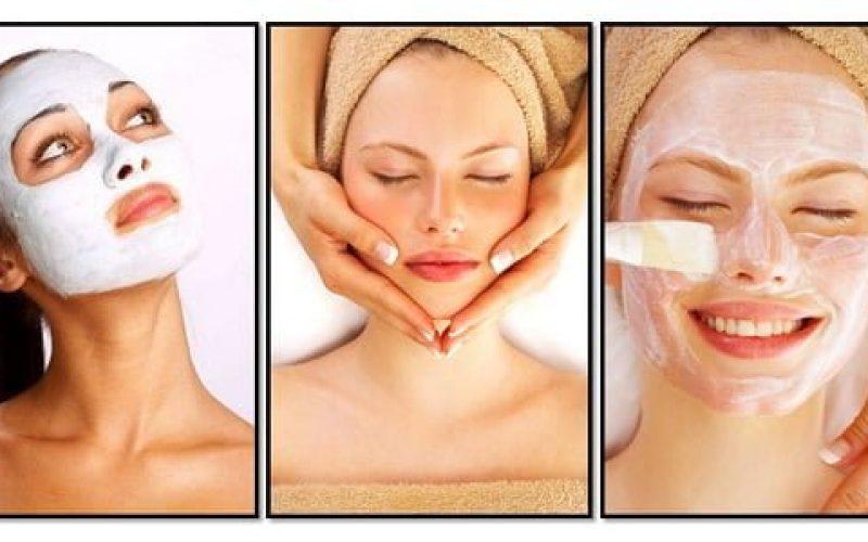 Ladies having different facial treatment